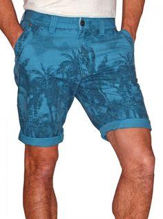 "Men's ""Castaway"" Printed Shorts by Darring USA (Blue) #InkedShop #InkedMag #Castaway #Printed #Shorts #Blue"
