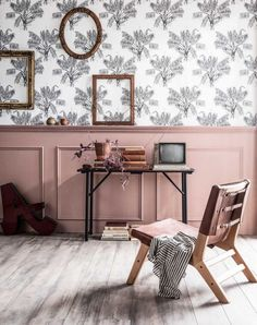 base in wall molding enhanced with powder pink paint Decor, Kids Room Inspiration, Room, Interior, Happy New Home, Home Decor, House Interior, Vintage Decor, Interior Design