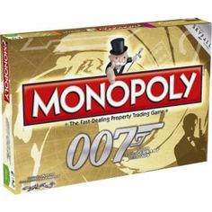 This special edition of Monopoly celebrates everyone's favourite spy, James Bond. It includes imagery from all 23 Bond films. Choose from exclusive Bond-inspired playing pieces; James Bond Games, James Bond Party, James Bond Theme, Monopoly Board, Monopoly Game, Gentlemans Club, V Games, Card Games, Rainbow Wood