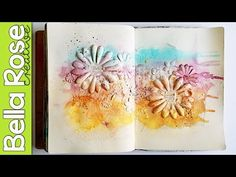 Texture + Lindy's Stamp Gang Ink Sprays - Mixed Media Art Journal - YouTube