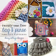 This week's roundup is full of beautiful bags, purses, and pouches. Whether you're ready for something new for yourself or looking for something to make for a friend, you're sure to find something in this list of twenty-one free patterns that's just right for you! Pin, share, and enjoy. Rainbow Happy Fun Pouch by...