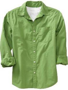 Old Navy Men's Lightweight Poplin Shirts Dad To Be Shirts, Cool Shirts, Men Shirts, Shirt Men, Casual Wear For Men, Casual Shirts For Men, Mens Brown Shirt, Old Navy Men, Look Cool