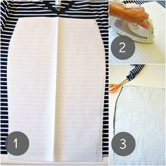 Sewing Skirts Just Another Day in Paradise: Pencil Skirt From T-shirt: Tutorial Sewing Hacks, Sewing Tutorials, Sewing Crafts, Sewing Projects, Sewing Patterns, Tutorial Sewing, Diy Clothing, Sewing Clothes, T Shirt Tutorial