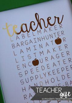 Teacher Print Gold Foil / Teacher Titles