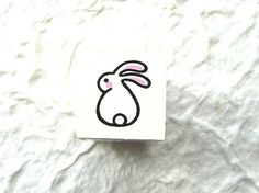 Cute Japanese Rabbit Rubber Stamp by kawaii_fabric_and_paper, via Flickr