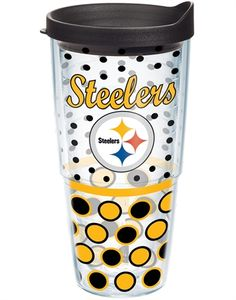 NFL® | Pittsburgh Steelers | Polka Dot Wrap with Lid | Tumblers, Mugs, Cups | Tervis    This is now mine :)