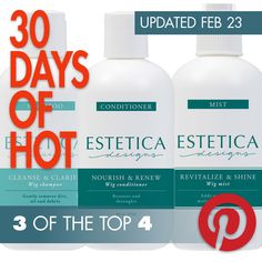 Estetica's hair maintenance trio take three of the top four spots on Abantu's 30 Days of Hot top sellers online Hair Restoration, Human Hair Wigs, Hair Pieces, Wig Hairstyles, Cleanse, Shampoo, Conditioner, How To Remove, Bottle