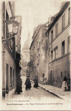 rue Saint-Rustique - Paris 18e