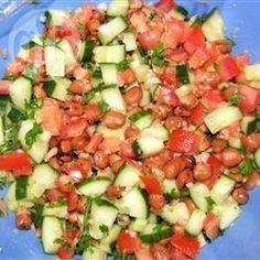 Broad Bean and Tomato Salad @ allrecipes.com.au