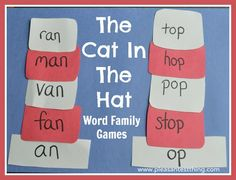 Word family Cat in the Hat game - build the Cat's hat!