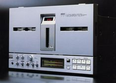 Yes, this is a reel-to-reel. It's the superb Akai GX-77, one of their last models. Akai ended on a high note with this one. It truly is one of the best home reel-to-reels ever made, and shows the immense progress they made from their mediocre recorders of only a year or two earlier, like the 1710W and the 4000D. Sadly, by the time the GX-77 was introduced, the reel-to-reel format was on the wane, so few were made. They are highly prized and enjoy a much-deserved cult following!