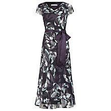 Buy Jacques Vert Floral Burnout Dress, Multi Purple Online at johnlewis.com