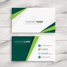 Clean green visit card vector image on VectorStock Free Printable Business Cards, Free Business Cards, Prospectus, Visiting Card Design, Name Card Design, Bussiness Card, Beauty Business Cards, Graphic Wallpaper, Calling Cards