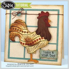 Sizzix Die Cutting Tutorial | Today Is Your Day Card by Jeanne Streiff