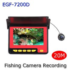 165.00$  Know more - http://ai612.worlditems.win/all/product.php?id=32371176843 - Mini Portable Night Vision Fish Finder Camera Underwater Fishing Camera with 20M(49.5FT) Cable 4.3 Inch Color Monitor Recording
