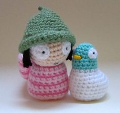 Sarah and Duck Inspired Dolls Set - Crochet Amigurumi Gift, Toy, Finished Product