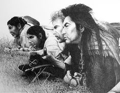"Scene from movie by bigjbelt, via Flickr.  Pencil drawing from a still photo from ""Dances with Wolves"" movie. I did this for myself, with no commercial uses planned."