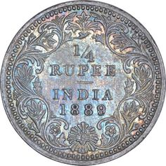 Silver Quarter Rupee Coin of Victoria Empress of Calcutta Mint of Sell Old Coins, Old Coins Value, Calming Pictures, History Of Pakistan, Text Symbols, Coin Auctions, Foreign Coins, Vintage Quotes, Coin Display
