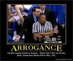 Arrogance says it all