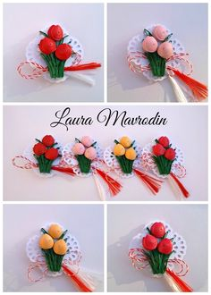 quilling my passion: Brosa buchetel de lalele Paper Quilling Tutorial, Paper Quilling Flowers, Paper Quilling Designs, Quilling Patterns, Quilling Videos, 3d Quilling, Quilling Jewelry, Hobbies And Crafts, Diy And Crafts