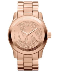 Michael Kors Watch, Women's Runway Rose Gold-Tone Stainless Steel Bracelet 45mm MK5661 - Women's Watches - Jewelry & Watches - Macy's