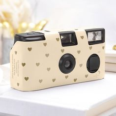 Gold Hearts Disposable Camera - Shop on WeddingWire! Throw Away Cameras, Disposable Camera Wedding, True Love Photos, Used Cameras, Point And Shoot Camera, Jolie Photo, Heart Patterns, Wedding Moments, Heart Of Gold