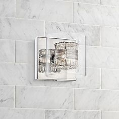 Bathroom Sconces - Sconce Designs for the Bath Bathroom Sconce Lighting, Bathroom Sconces, Bathroom Ideas, Basement Bathroom, Bath Ideas, Contemporary Wall Sconces, Contemporary Bathrooms, Contemporary Design, Master Bath Vanity