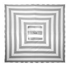 Shady chic grey and white striped Portofino Umbrella, $249.00 #ZGallerie