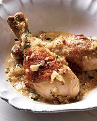 Chicken Dijon from Food and Wine magazine. Atkins diet friendly recipe.