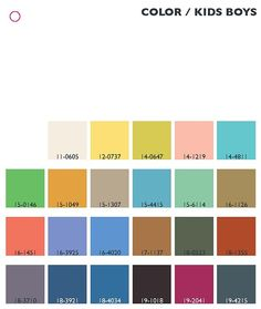 Trend colors spring/summer 2013/14 kids/boys