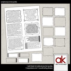 scripture journal quotes and sketched frames