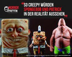 So creepy würde Spongebob und Patrick in der Realität aussehen.