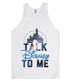 Talk Disney To Me-Unisex White Tank