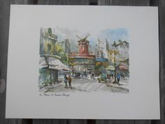A personal favorite from my Etsy shop https://www.etsy.com/listing/243733122/set-of-mid-century-paris-prints-three