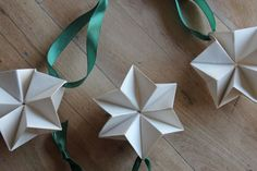 Go to the webpage to learn more about Origami Paper Folding Oragami Christmas Ornaments, Origami Christmas Star, Christmas Star Decorations, Christmas Paper Crafts, Christmas Crafts, Origami Xmas Decorations, Holiday Decor, Design Origami, Origami Paper Art