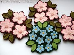 Cherry Blossoms and Forget-Me-Nots
