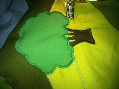 Ziz zag stitching on the tree
