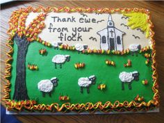 Pastor Appreciation Day - Cake is done in buttercream.