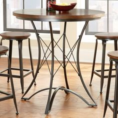 Steve Silver Adele Round Counter Height Dining Table - AE360PT