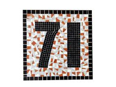 Large Mosaic Address Sign // Outdoor House by GreenStreetMosaics