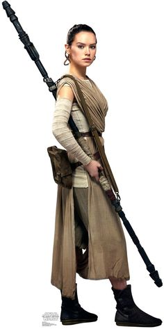 Star Wars 7 The Force Awakens Rey Standup - 6' Tall from BirthdayExpress.com