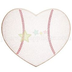 "BaseballHeart_pa Sizes 4x4 ,  5x7 , 6x10 Finish Size3.34"" X 3.90"" (4X4)  :  5.07"" X5.94""  (5x7)  : 5.80"" X 6.80"" Fabric Panels1 Stops 3 Thread Colors3/4"