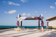 Work with the wedding coordinator to add your perfect gazebo decor #SecretsPlayaMujeres #Mexico #DestinationWedding