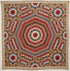 Starburst Quilt: Circa 1830;Pennsylvania