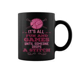 Drop A Stitch NEW MUG  coffee mug, papa mug, cool mugs, funny coffee mugs, coffee mug funny, mug gift, #mugs #ideas #gift #mugcoffee #coolmug