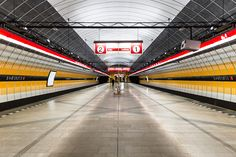 Prague's red metro line in photos, all stations