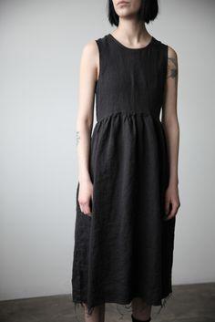 Irina Linen Dress - Black | Ovate                                                                                                                                                      More