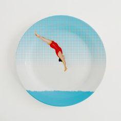 Assiette - La baigneuse en rouge 1, Créateur : Karelle Villais
