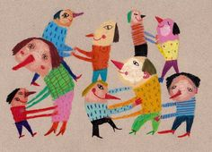 will you dance with me / ORIGINAL DRAWING / Dancing around / Beige background / Holding each other. $55.00, via Etsy.