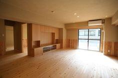 珪藻土の塗り壁と無垢桧のフローリングに囲まれて|文京区 - リノベーションの東京都台東区 土手加藤材木店